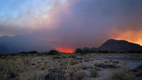 Inyo Creek Fire Closes Whitney Portal, Hikers Evacuated