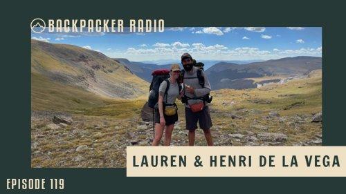 Backpacker Radio #119   Lauren & Henri de la Vega: The Triple Crown Power Couple