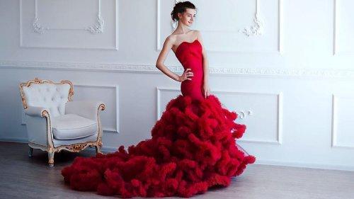 50 Red Wedding Dresses for Striking Brides
