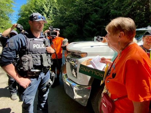 Thirty Seniors Confronted RCMP at Fairy Creek and Declared Victory   The Tyee