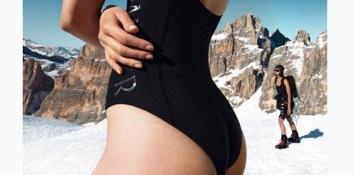 I costumi estivi Moncler sfidano i ghiacciai