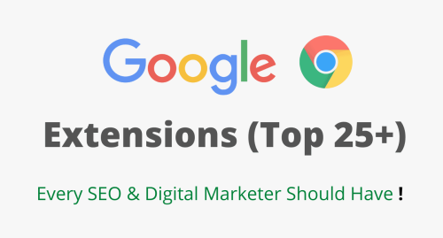 Chrome Extensions for SEO Marketers