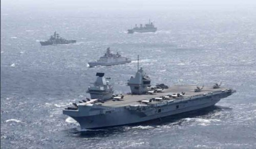 UK's giant aircraft carrier to take part in mega exercise with Indian Navy