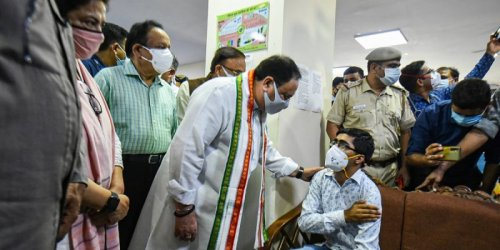 How BJP Is Turning India's COVID Vaccine Drive Into a Political Campaign
