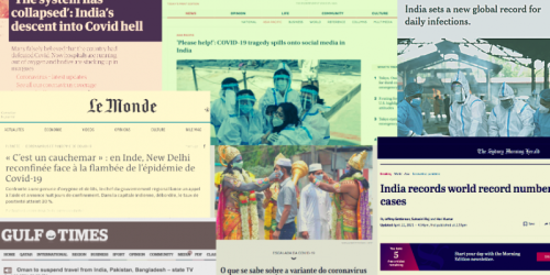 'System Has Collapsed': Global Media Minces No Words on India's COVID Crisis