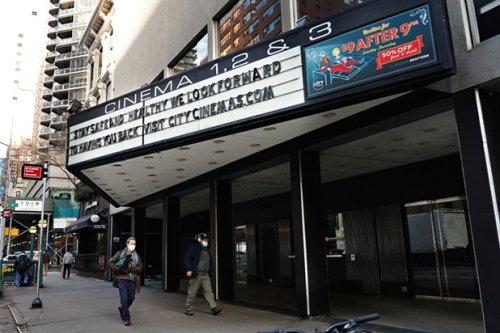 New York Movie Theaters Demand Capacity Rise to 50% by Memorial Weekend