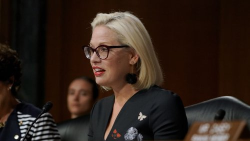Kyrsten Sinema Shredded for Wearing a Jean Jacket to Preside Over the Senate: 'Does She Think This Is a F–ing Rodeo?' (Video)