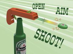 Bottle Opener and Cap GUN!