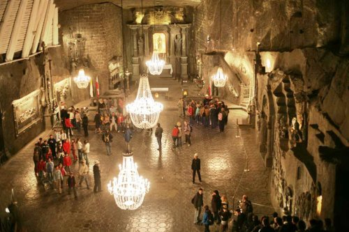 Strange places: Poland's ancient salt mines with carved chapels and crystal chandeliers