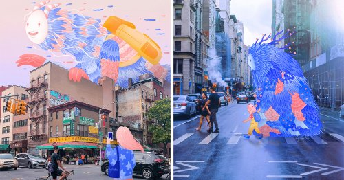 Creatures of Hope: Cheery Illustrated Monsters Strut through New York City Streets