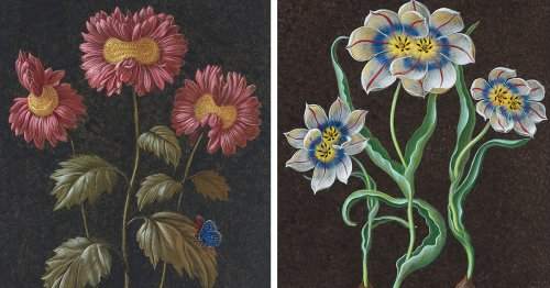 Flowers Mutate into Peculiar Blossoms in 18th-Century-Style Paintings by Laurent Grasso