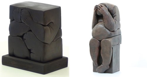 Figures Experience Constraint and Confinement in Bronze Sculptures by Khaled DAWWA