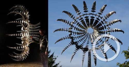 Hypnotic New Kinetic Sculptures by Anthony Howe