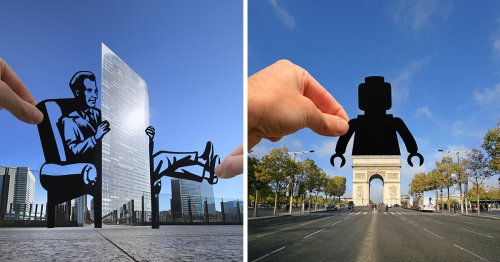 Clever Paper Cutouts by Paperboyo Transform Architecture and Landmarks into Amusing Scenes