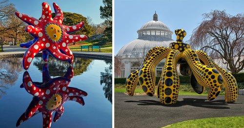Cosmic Nature: A Spectacular Polka Dot-Filled Exhibition by Yayoi Kusama Sprawls Across New York Botanical Garden