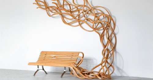 Wooden Benches Unfurl into Pasta-Esque Strands in Pablo Reinoso's Works