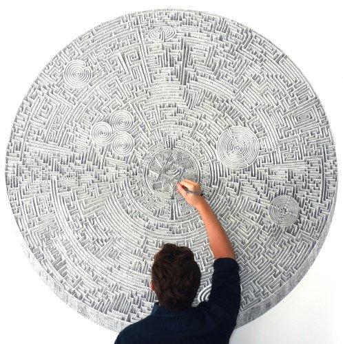 Infinite Architectural Metropolises Balance Order and Chaos in Benjamin Sack's Drawings