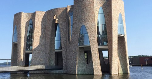 An Olafur Eliasson-Designed Building Only Accessible by Footbridge in a Danish Fjord