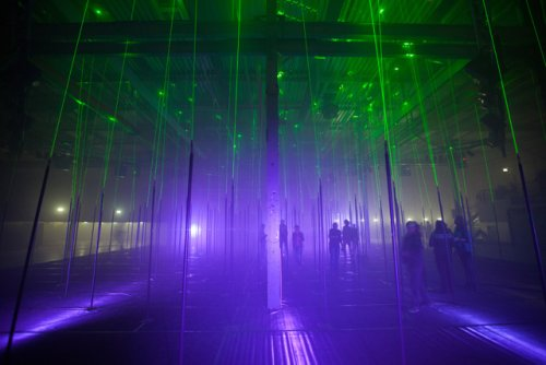 An Interactive Forest of Musical Lasers by Marshmallow Laser Feast