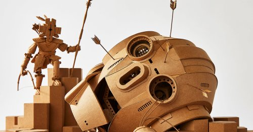 New Articulate Cardboard Sculptures by Greg Olijnyk Populate Miniature Worlds of Fantasy and Science Fiction