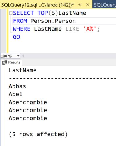 SET NOCOUNT For SQL Server