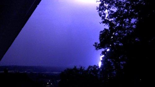 Wetter in Thüringen: Heftige Gewitter in der Nacht rauben Menschen den Schlaf
