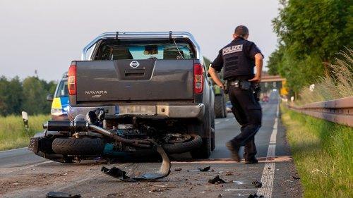 Gotha: Schrecklicher Unfall! Motorradfahrer (59) schwer verletzt