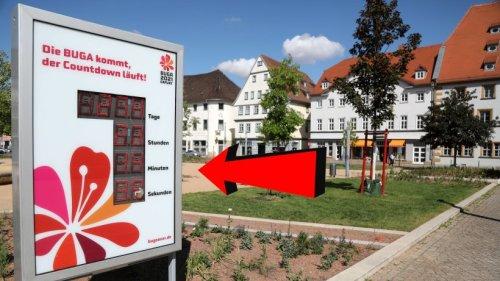 """Erfurt: Buga-Anzeige sorgt für Rätsel – """"Nicht Gedanken gemacht"""""""