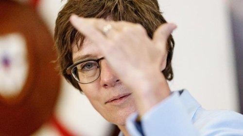 Kramp-Karrenbauer: Echo auf geplante EU-Truppe sehr positiv