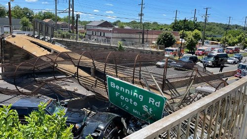 USA: Brücke über Autobahn bricht zusammen - Verletzte