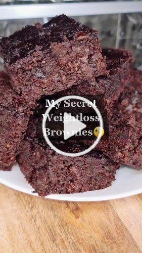 Amazing flourless brownies 🤤 #weightloss #brownies #recipe #healthy #nosugar #wow