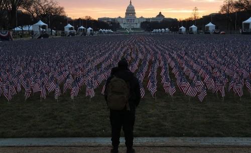 Hours Before Inauguration, Biden Looks Ahead to a New American Dawn