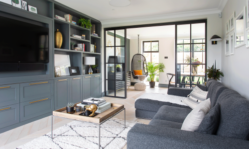 This Thirties home has been transformed with steel framed windows and stunning built in storage