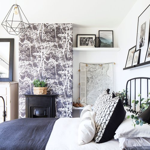 How to wallpaper a chimney breast to create the ultimate feature wall
