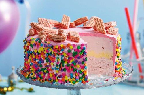 Pink Wafer Ice Cream Cake