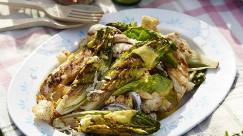Grilled Caesar Salad With Sumac Croutons | Recipes | GoodtoKnow