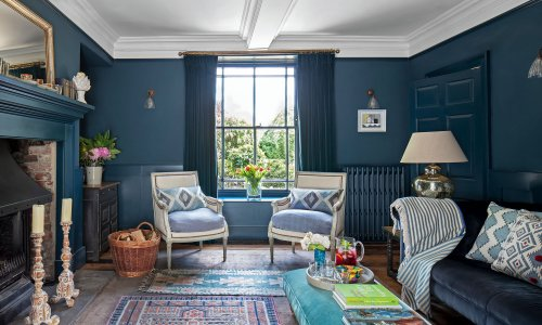 Take tips on using blue colour schemes from this pretty period farmhouse in Dorset