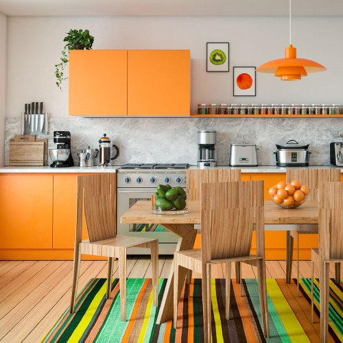 The orange kitchen is making a comeback – are you bold enough for this retro hue?