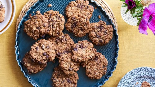 Candied Ginger Oat Biscuits