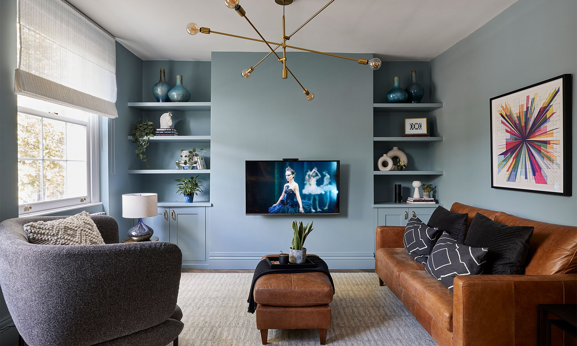 Decorating with upbeat colours has given this unloved flat a bold new identity