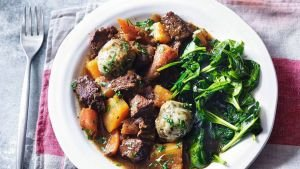 Slimming World beef stew and parsley dumplings