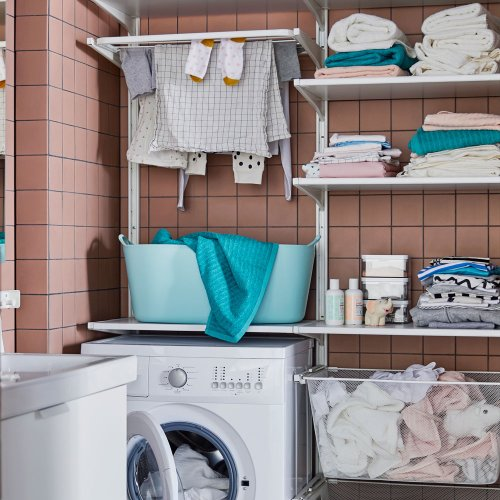 Utility room shelving ideas – organise your laundry room supplies with chic shelf solutions