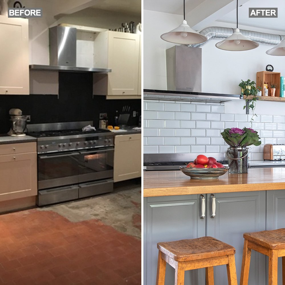 Before and after: from dated 1930s kitchen to quirky family space
