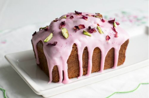 Rosewater Drizzle Cake