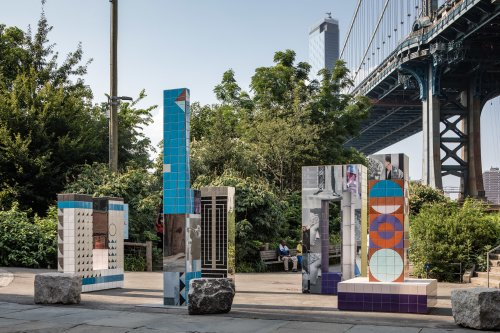 Brooklyn Bridge Park has a shiny art installation made with 1,000 hand-painted tiles