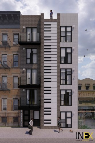 We're obsessed with this building with a piano facade in Brooklyn