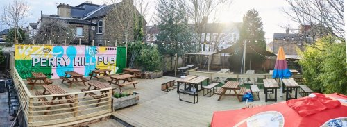 Great timing! This London pub is reopening with a huge beer garden