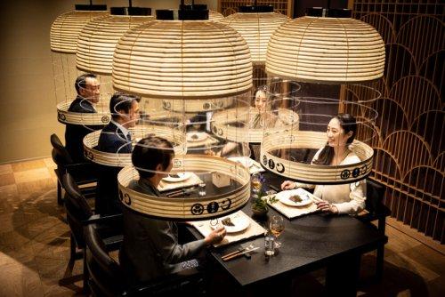 Hoshinoya Tokyo provides social distancing 'human lanterns' for a worry-free dinner