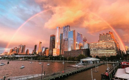 See photos of last night's epic rainbow in NYC