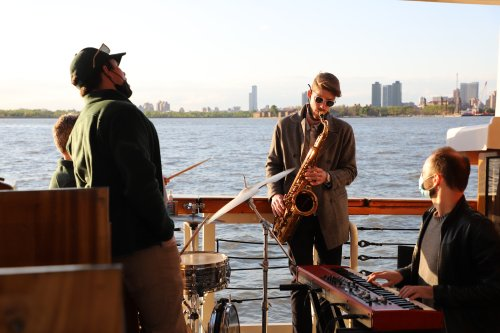 We took a sunset jazz cruise around Manhattan and it was absolutely magical
